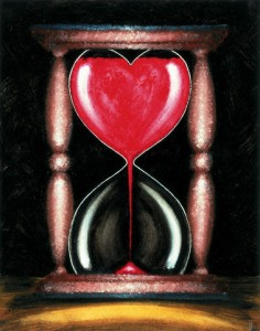 Heart-Shaped Hourglass