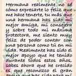 carta para mi hermana